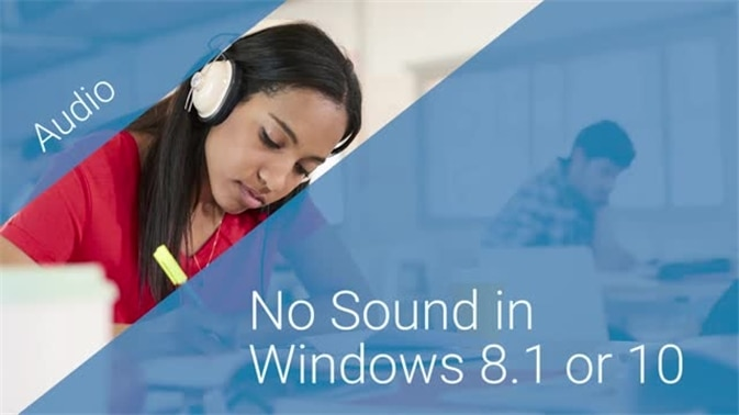 no sound from speakers windows 8