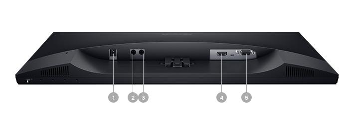 צג S2218H של Dell - אפשרויות קישוריות