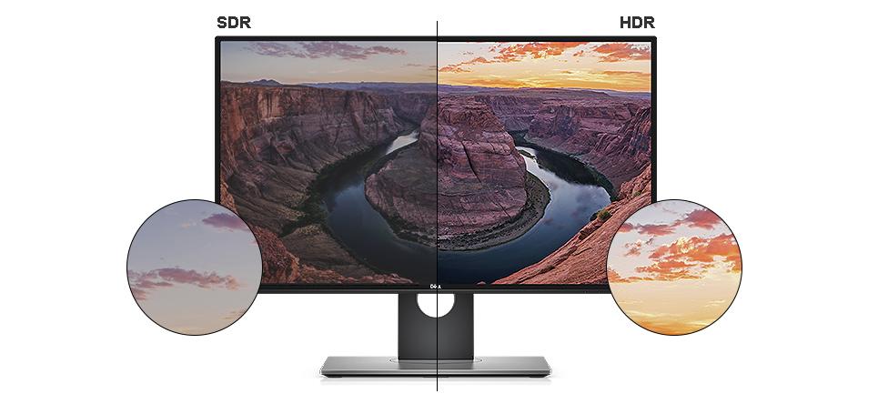 צג U2718Q של Dell - איכות תמונה מציאותית