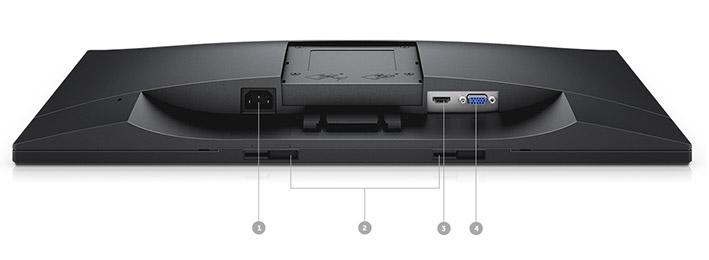 צג E2418HN של Dell - אפשרויות קישוריות