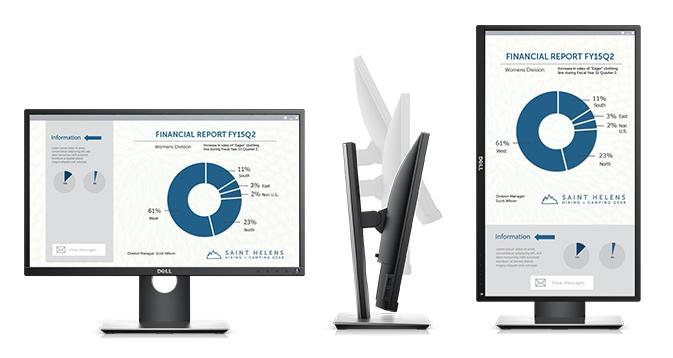 צג P2317H של Dell – מעוצב במיוחד לשימוש קל ונוח