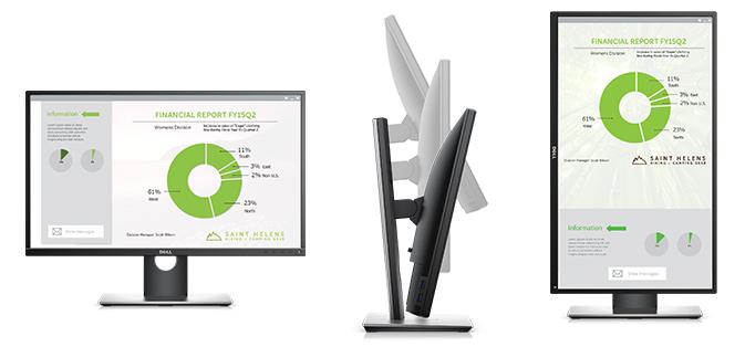 צג מדגם P2717H של Dell - מבוסס על תכנון ייעודי המציע נוחות ושימוש קל