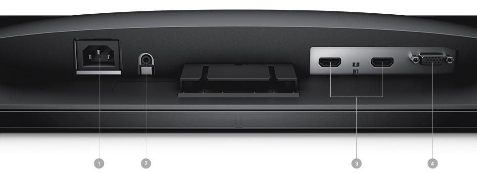 צג SE2417HG של Dell – אפשרויות קישוריות