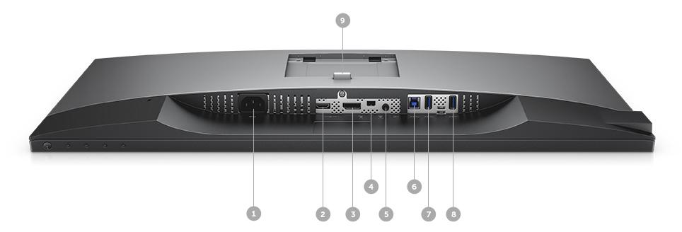 צג U2718Q של Dell - אפשרויות קישוריות