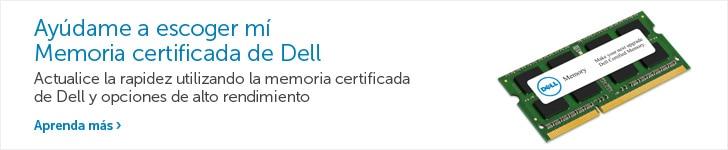 Ayúdame a escoger mí Memoria certificada de Dell