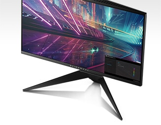 New Alienware 25 Gaming Monitor | AW2518H - Dynamic on-screen display