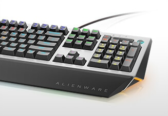 Alienware Pro Gaming Keyboard | AW768 - Quick actuation and comfortable typing