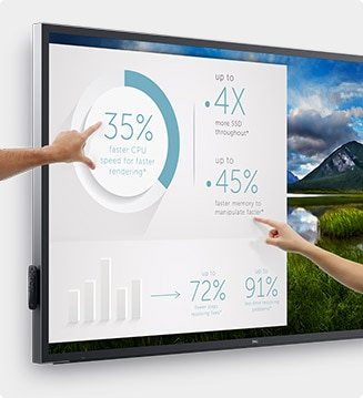 Dell 86 Monitor - C8618QT | Just the right touch.