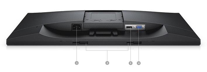 Monitor Dell 23: E2318H | Opciones de conectividad.