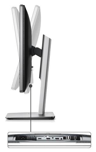 צג בגודל 24 אינץ' באיכות Ultra HD 4K מדגם P2415Q של Dell - יכולת כוונון מלאה