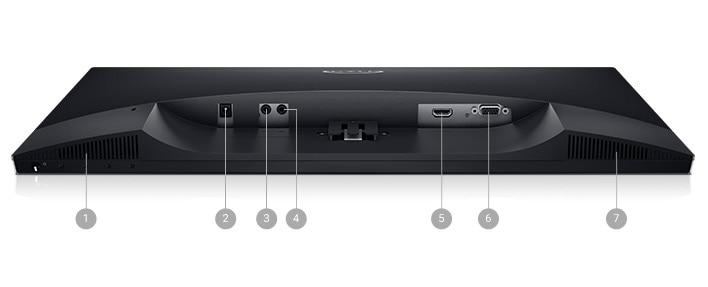 Monitor Dell 23: S2319H | Opciones de conectividad.