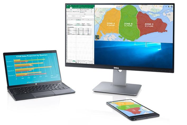 Dell UltraSharp 24 無線連接顯示器 - U2417HWi | 提升效率