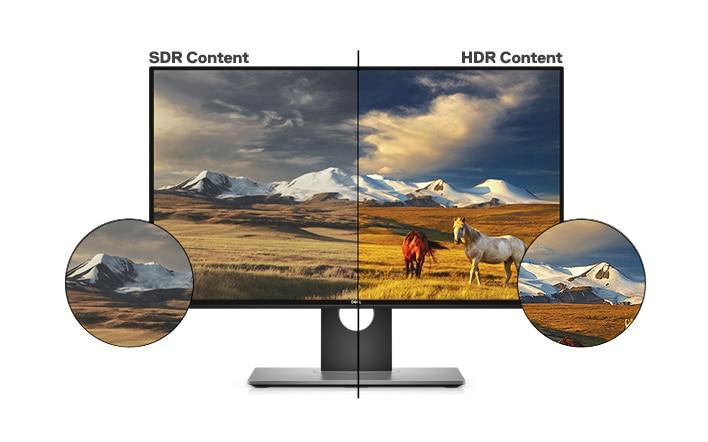 Monitor Dell UltraSharp 25 | U2518D | Efectos visuales realistas
