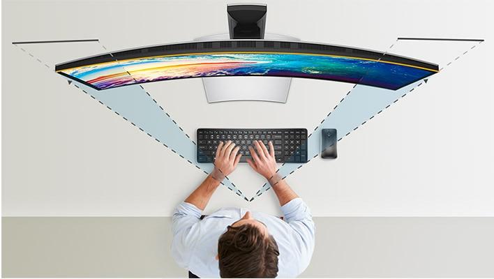 Monitor curvo 38 Dell UltraSharp | U3818DW | Colores consistentes Un nivel de detalles increíble