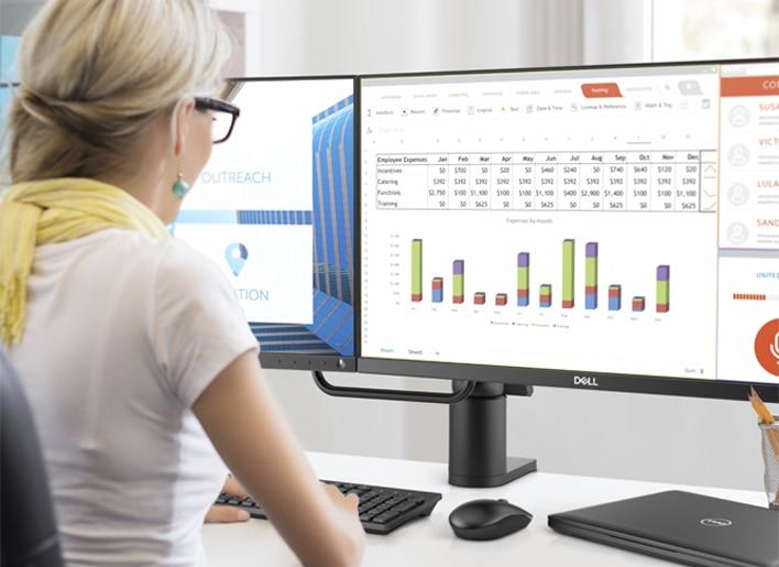 Monitor Dell 27: P2418D | Domine varias tareas