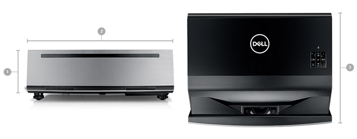 Dell Projector S718QL - Dimensions & Weight