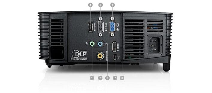 Proyector Dell P318S: Puertos y ranuras