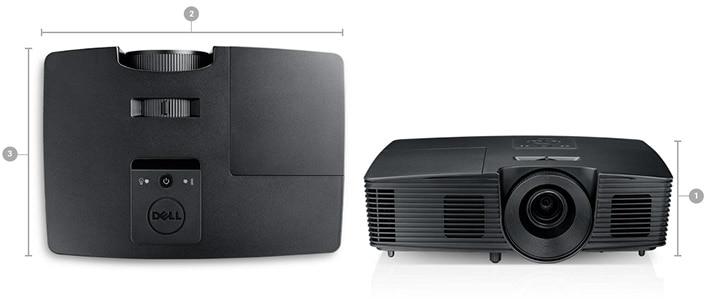 Proyector Dell P318S: Dimensiones y peso