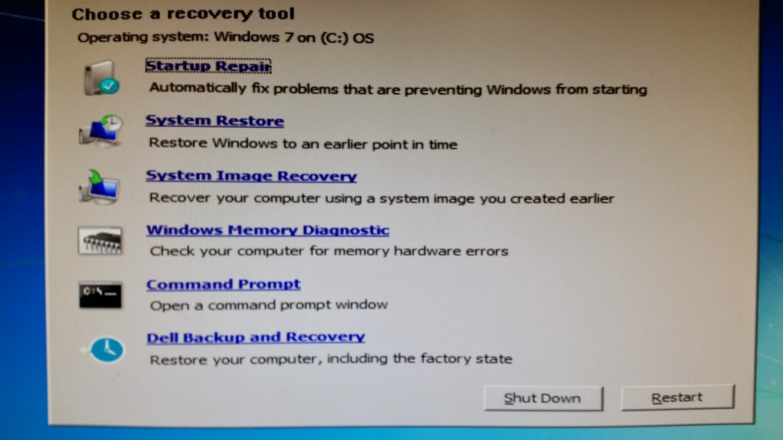 Windows recovery windows 7 download