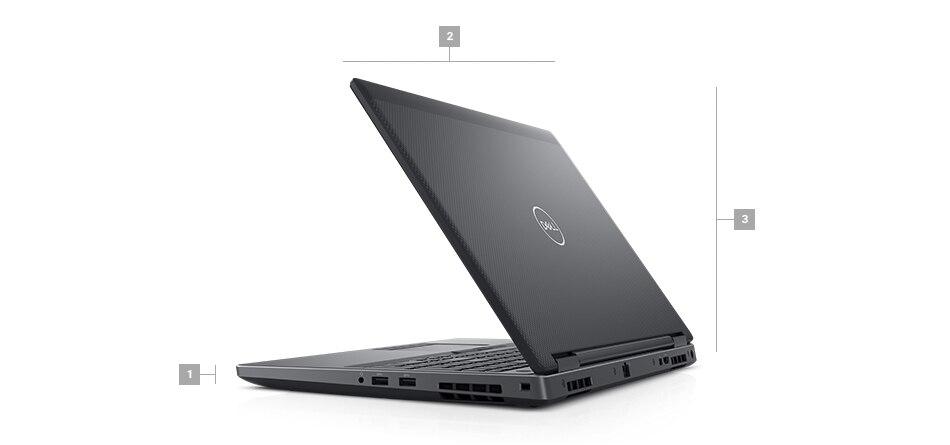 מחשב נייד מדגם Precision 7530 - מידות ומשקל