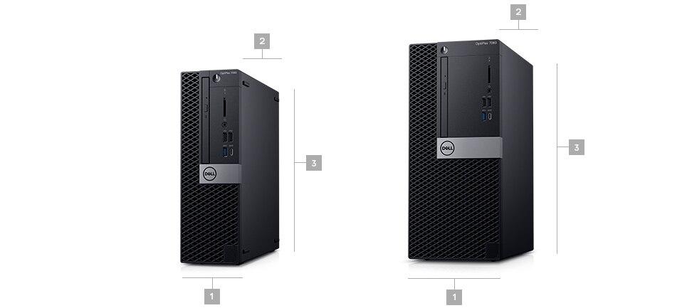 מחשב שולחני מדגם Optiplex 7060 - מידות ומשקל