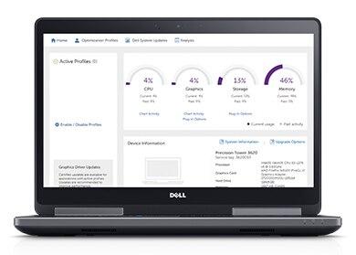 Precision 15 7520 - שפר את הפרודוקטיביות בעזרת Dell Precision Optimizer